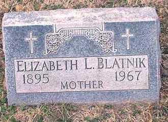 BLATNIK, ELIZABETH L. - Pueblo County, Colorado   ELIZABETH L. BLATNIK - Colorado Gravestone Photos