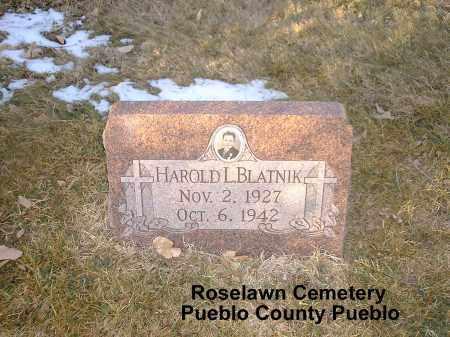 BLATNIK, HAROLD L. - Pueblo County, Colorado | HAROLD L. BLATNIK - Colorado Gravestone Photos
