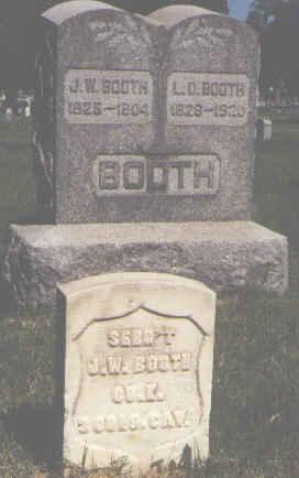 BOOTH, J. W. - Pueblo County, Colorado | J. W. BOOTH - Colorado Gravestone Photos