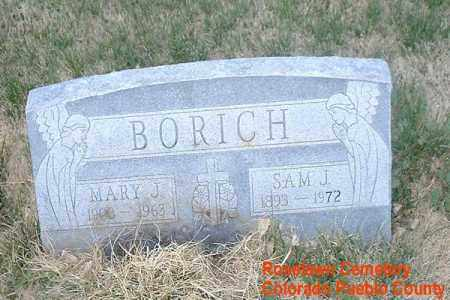 BORICH, MARY J. - Pueblo County, Colorado | MARY J. BORICH - Colorado Gravestone Photos