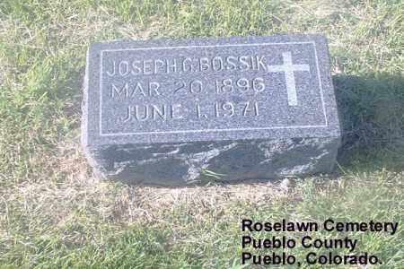 BOSSIK, JOSEPH G. - Pueblo County, Colorado | JOSEPH G. BOSSIK - Colorado Gravestone Photos