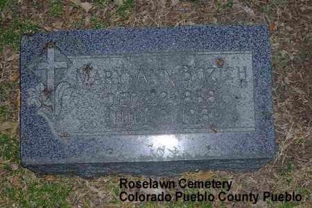 BOZICH, MARY ANN - Pueblo County, Colorado   MARY ANN BOZICH - Colorado Gravestone Photos
