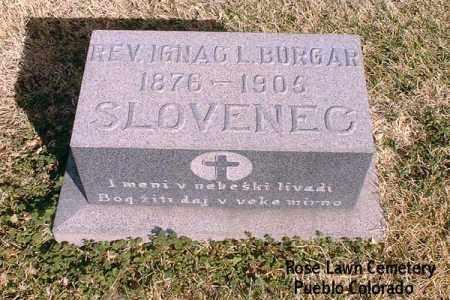 BURGAR, REV. IGNAC L. - Pueblo County, Colorado | REV. IGNAC L. BURGAR - Colorado Gravestone Photos