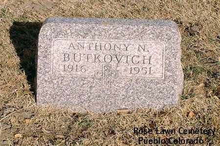 BUTKOVICH, ANTHONY N. - Pueblo County, Colorado | ANTHONY N. BUTKOVICH - Colorado Gravestone Photos
