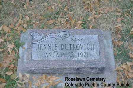BUTKOVICH, JENNIE - Pueblo County, Colorado | JENNIE BUTKOVICH - Colorado Gravestone Photos