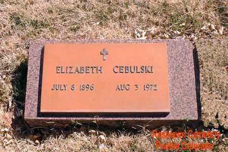 CEBULSKI, ELIZABETH - Pueblo County, Colorado | ELIZABETH CEBULSKI - Colorado Gravestone Photos