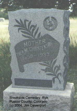 CHRISTENSEN, THEA M. - Pueblo County, Colorado | THEA M. CHRISTENSEN - Colorado Gravestone Photos
