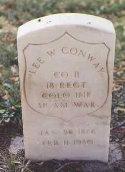 CONWAY, LEE W. - Pueblo County, Colorado | LEE W. CONWAY - Colorado Gravestone Photos