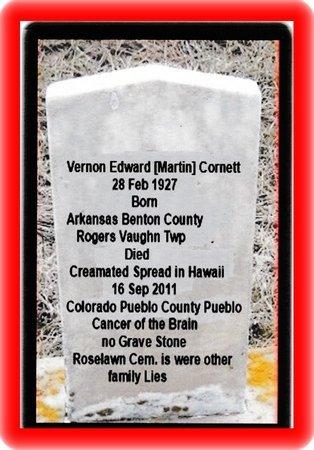 CORNETT, VERNON - Pueblo County, Colorado   VERNON CORNETT - Colorado Gravestone Photos