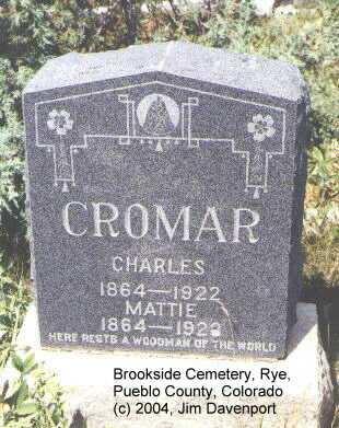 CROMAR, MATTIE - Pueblo County, Colorado | MATTIE CROMAR - Colorado Gravestone Photos
