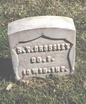 CROSSLEY, R. T. - Pueblo County, Colorado | R. T. CROSSLEY - Colorado Gravestone Photos