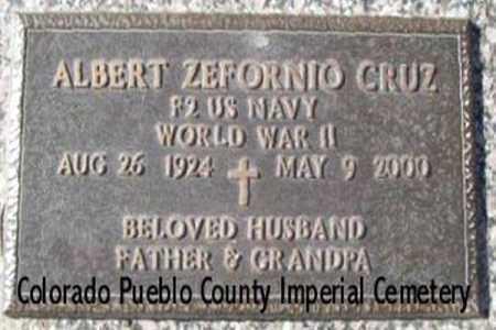 CRUZ, ALBERT ZEFORNIO - Pueblo County, Colorado | ALBERT ZEFORNIO CRUZ - Colorado Gravestone Photos