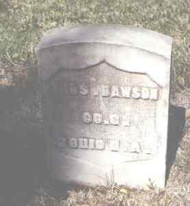 DAWSON, THOS. - Pueblo County, Colorado | THOS. DAWSON - Colorado Gravestone Photos