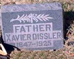 DISSLER, XAVIER - Pueblo County, Colorado | XAVIER DISSLER - Colorado Gravestone Photos