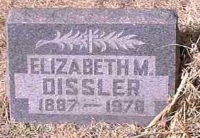DISSLER, ELIZABETH M. - Pueblo County, Colorado | ELIZABETH M. DISSLER - Colorado Gravestone Photos