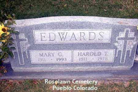 EDWARDS, HAROLD T. - Pueblo County, Colorado | HAROLD T. EDWARDS - Colorado Gravestone Photos