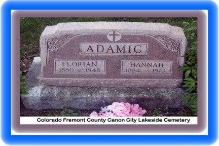 FLORIAN, FLORIAN - Pueblo County, Colorado   FLORIAN FLORIAN - Colorado Gravestone Photos