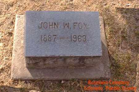 FOX, JOHN W. - Pueblo County, Colorado | JOHN W. FOX - Colorado Gravestone Photos