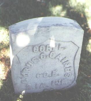 GAINES, CYRUS C. - Pueblo County, Colorado | CYRUS C. GAINES - Colorado Gravestone Photos