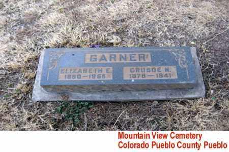 GARNER, ELIZABETH E. - Pueblo County, Colorado | ELIZABETH E. GARNER - Colorado Gravestone Photos