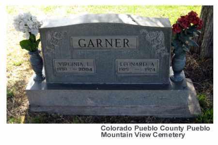 GARNER, VIRGINIA L. - Pueblo County, Colorado | VIRGINIA L. GARNER - Colorado Gravestone Photos