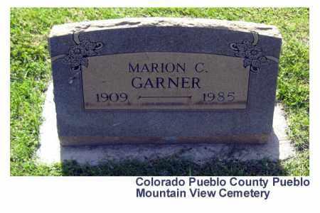 GARNER, MARION C. - Pueblo County, Colorado   MARION C. GARNER - Colorado Gravestone Photos