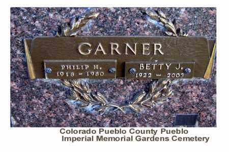 GARNER, BETTY J. - Pueblo County, Colorado | BETTY J. GARNER - Colorado Gravestone Photos