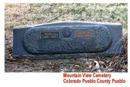 GARNER, RUFUS M. - Pueblo County, Colorado | RUFUS M. GARNER - Colorado Gravestone Photos