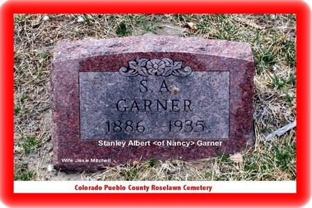 GARNER, STANLEY ALBERT - Pueblo County, Colorado | STANLEY ALBERT GARNER - Colorado Gravestone Photos