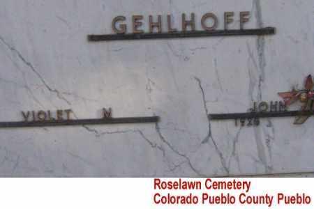 GEHLHOFF, JOHN - Pueblo County, Colorado   JOHN GEHLHOFF - Colorado Gravestone Photos