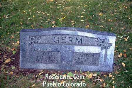GERM, LOUIS - Pueblo County, Colorado   LOUIS GERM - Colorado Gravestone Photos