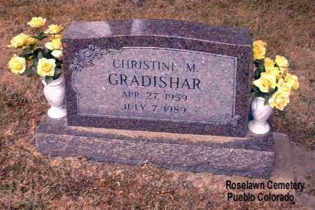 GRADISHAR, CHRISTINE M. - Pueblo County, Colorado | CHRISTINE M. GRADISHAR - Colorado Gravestone Photos