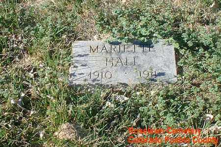 HALL, MARIETTE - Pueblo County, Colorado | MARIETTE HALL - Colorado Gravestone Photos