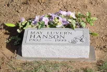 HANSON, MAY L. - Pueblo County, Colorado | MAY L. HANSON - Colorado Gravestone Photos