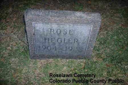 HEGLER, ROSE - Pueblo County, Colorado | ROSE HEGLER - Colorado Gravestone Photos