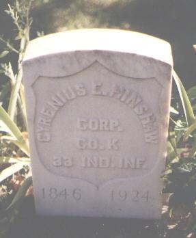 HINSHAW, CYRENIUS - Pueblo County, Colorado   CYRENIUS HINSHAW - Colorado Gravestone Photos