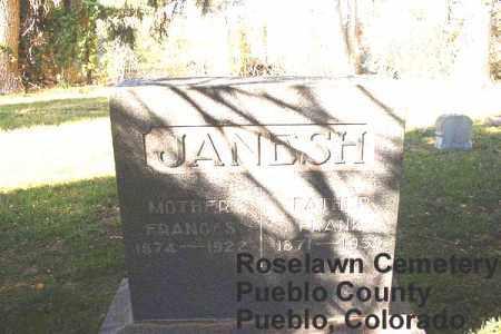 JANESH, FRANK - Pueblo County, Colorado | FRANK JANESH - Colorado Gravestone Photos