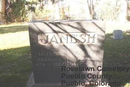 JANESH, FRANCES - Pueblo County, Colorado | FRANCES JANESH - Colorado Gravestone Photos