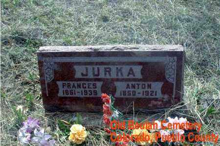 JURKA, FRANCES - Pueblo County, Colorado | FRANCES JURKA - Colorado Gravestone Photos