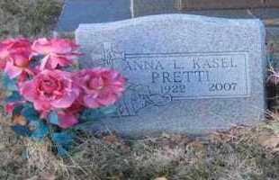 KASEL, ANNA L. - Pueblo County, Colorado | ANNA L. KASEL - Colorado Gravestone Photos