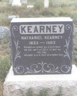 KEARNEY, NATHANIEL - Pueblo County, Colorado | NATHANIEL KEARNEY - Colorado Gravestone Photos
