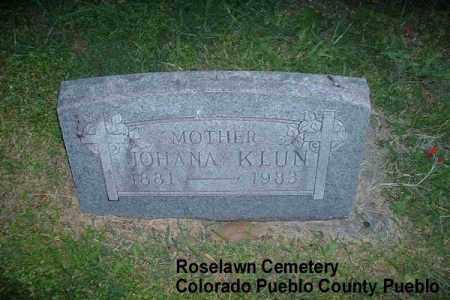 KLUN, JOHANA - Pueblo County, Colorado   JOHANA KLUN - Colorado Gravestone Photos