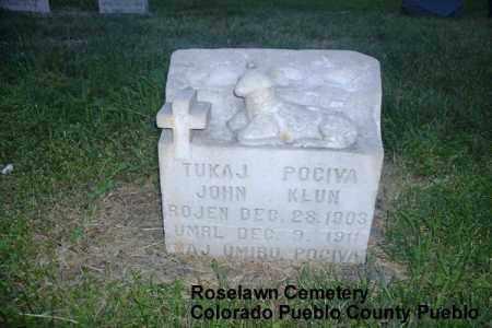 KLUN, JOHN - Pueblo County, Colorado   JOHN KLUN - Colorado Gravestone Photos