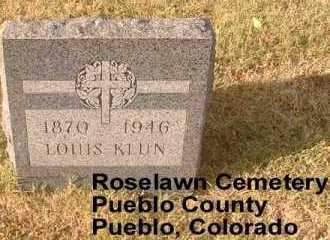 KLUN, LOUIS - Pueblo County, Colorado | LOUIS KLUN - Colorado Gravestone Photos