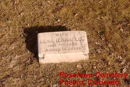 KNAFELC, LENA O. - Pueblo County, Colorado | LENA O. KNAFELC - Colorado Gravestone Photos