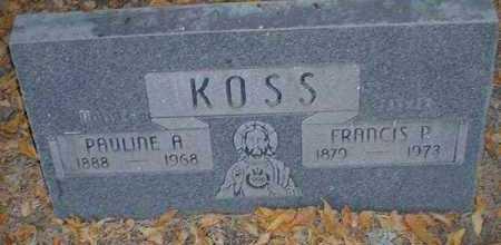 KOSS, FRANCIS P. - Pueblo County, Colorado   FRANCIS P. KOSS - Colorado Gravestone Photos