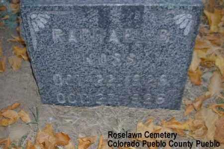 KOSS, RAPHAEL B. - Pueblo County, Colorado | RAPHAEL B. KOSS - Colorado Gravestone Photos