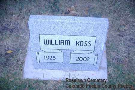 KOSS, WILLIAM - Pueblo County, Colorado | WILLIAM KOSS - Colorado Gravestone Photos