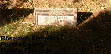 KOVSCA, ANDREW - Pueblo County, Colorado | ANDREW KOVSCA - Colorado Gravestone Photos