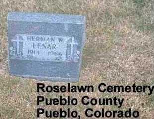 LESAR, HERMAN W. - Pueblo County, Colorado | HERMAN W. LESAR - Colorado Gravestone Photos
